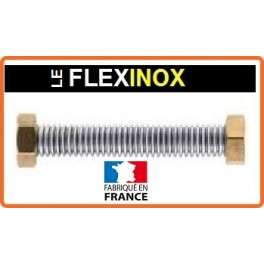 Flexible inox 316 DN12 avec raccords laiton femelle tournant 1/2