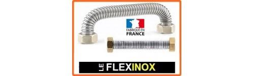 Flexible inox sans tresse pour eau (chauffage et santaire) et vapeur avec raccords laiton