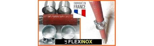 Passe-cloison pour flexible inox à colliers avec isolation thermique