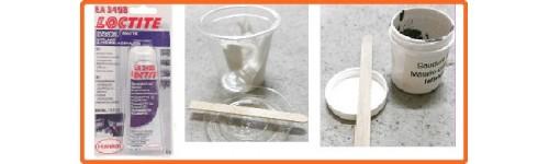 Produits d'échappement: soudure à froid haute température et pâte d'étanchéité