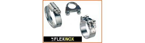 Collier inox W4 à bande pleine, à bande ajourée et à tourillon