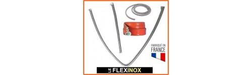Flexible inox à colliers pour échappement groupe électrogène et WEBASTO par diamètre de tube (8 à 48)